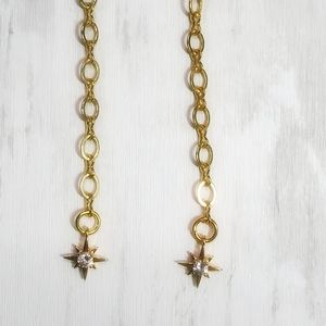 North Star Gold Shoulder Duster Earrings